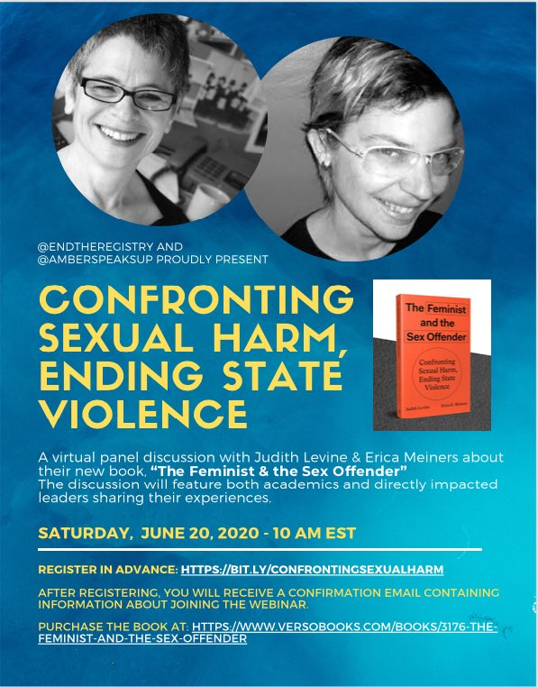 Virtual Panel Discussion: Confronting Sexual Harm, Ending State Violence