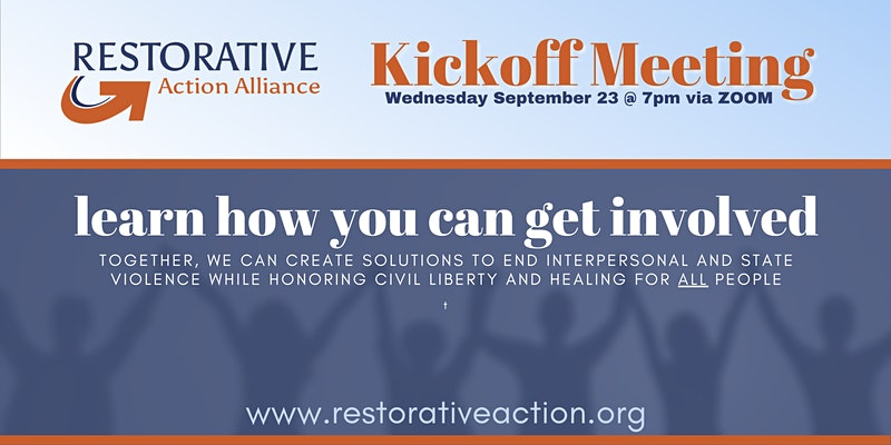 Restorative Action Alliance Kick Off
